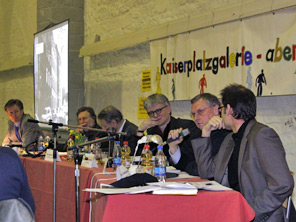 Podiumsdiskussion am 17.02.2009 in der Aula Carolina – Foto: Ricarda Grothey